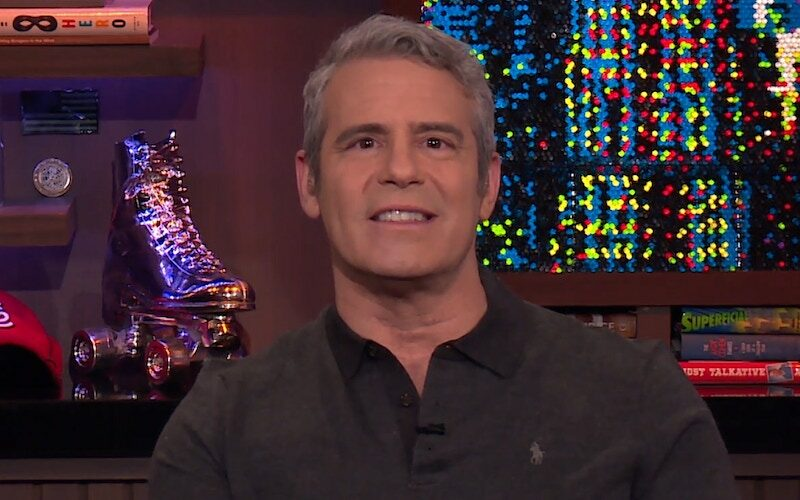 Andy Cohen on an episode of Watch What Happens Live, making the same face I did while I watched his new show, For Real: The Story of Reality TV