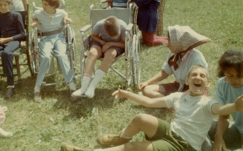 An archival photo from Camp Jened, as seen in the Netflix documentary Crip Camp