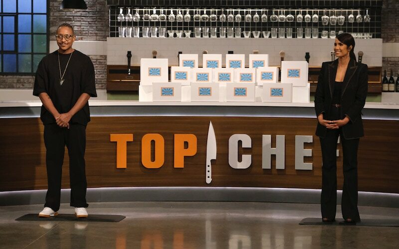 Gregory Gourdet and Padma Lakshmi introduce Top Chef Portland's first challenge