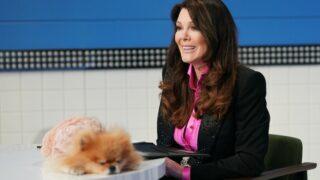 Lisa Vanderpump with her dog on Pooch Perfect