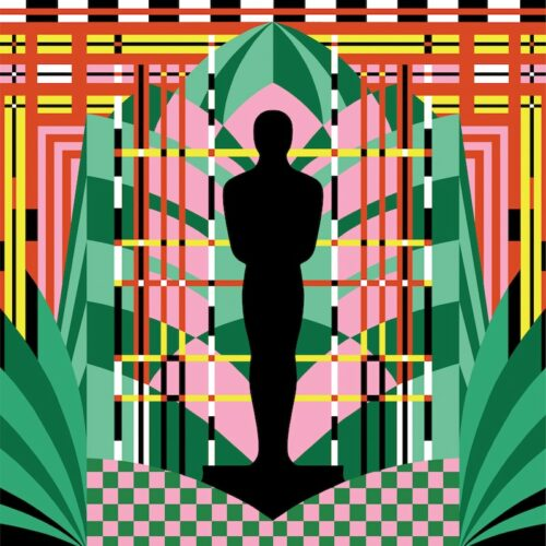 Michelle Robinson created this image as one of seven artists from around the world who created works based on the Oscar statuette for the 93rd Oscars