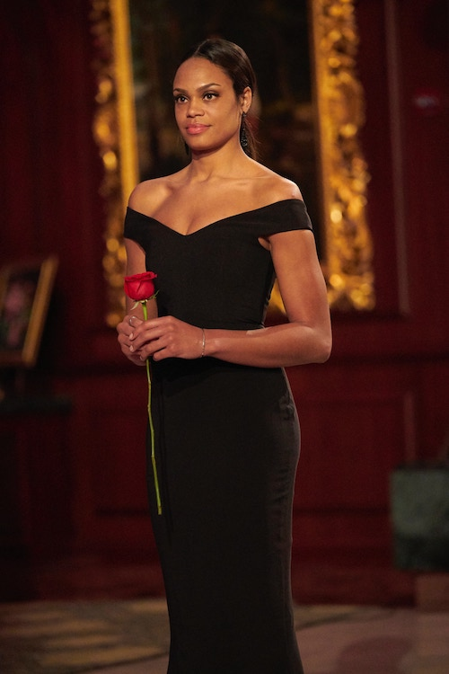 Michelle Young after receiving a rose from Matt James on The Bachelor season 25