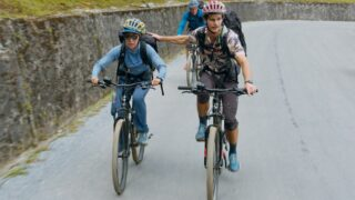 Team Southeast Asia bikes up to Heaven's Gate in Vietnam