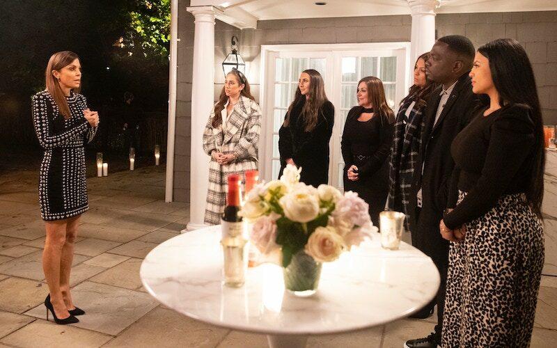 Bethenny Frankel with candidates Nicole Rose Stillings, Ashley Mattianese, Jenna Leveille, Milokssy Resto, Correy Kaiten, and Wendy Cartegena