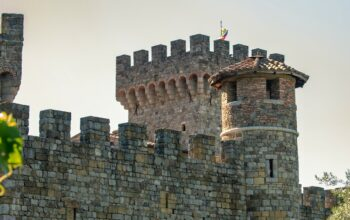 Castello di Amorosa in Calistoga, Calif., a winery in Napa Valley that was used as the location for The Quest season 2 on Disney+