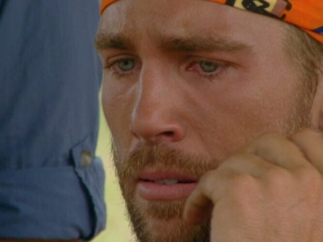 Colby Donaldson has an emotional instant messenger chat with his mom during a Survivor: The Australian Outback reward challlenge