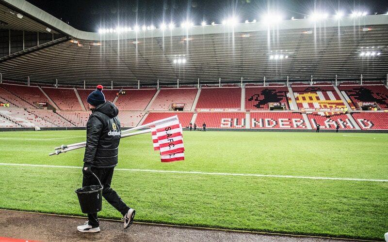 The Stadium of Light, the home of Sunderland AFC, on Sunderland 'Til I Die