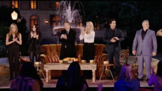 A moment from HBO Max's Friends: The Reunion special