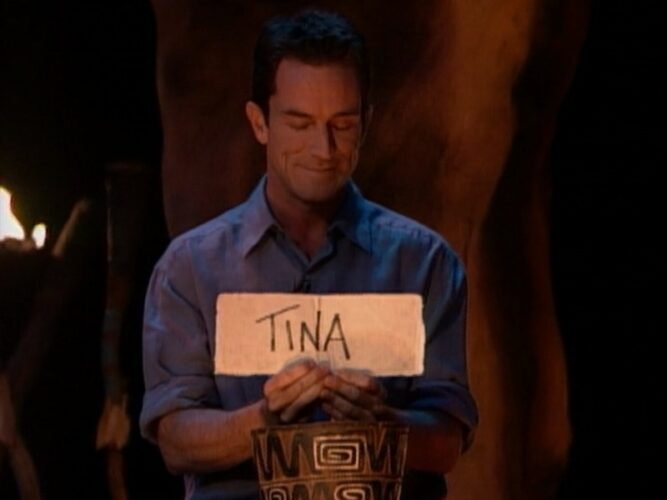Jeff Probst reveals the final vote that gave Tina Wesson the $1 million win on Survivor: The Australian Outback