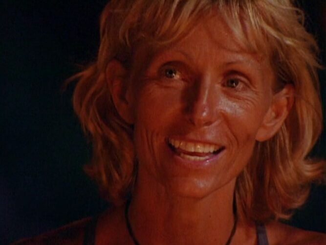 Tina Wesson, winner of Survivor: The Australian Outback, during the final Tribal Council