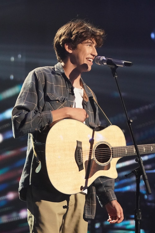 Wyatt Pike performs during the American Idol 19 top 16 on April 11, before dropping out of the competition