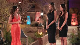 Bachelorette 17 star Katie Thurston with Kaitlyn Bristowe and Tayshia Adams, who are the show's hosts and her mentors