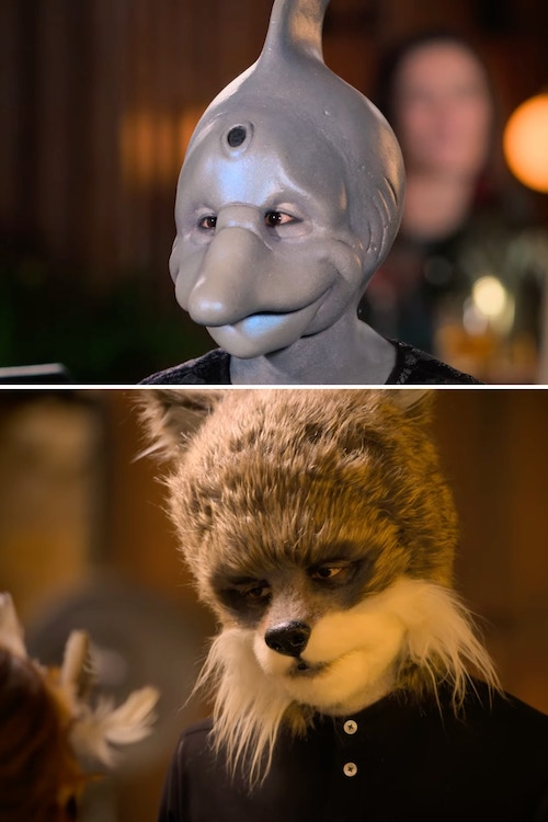 On Sexy Beasts, people date each other while wearing prosthetics like these, which are from the show's trailer.