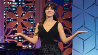 """Zooey Deschanel, host of The Celebrity Dating Game, on the """"Carson Kressley and Iggy Azalea"""" episode"""