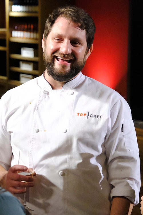 Top Chef Portland winner Gabe Erales after his win was announced