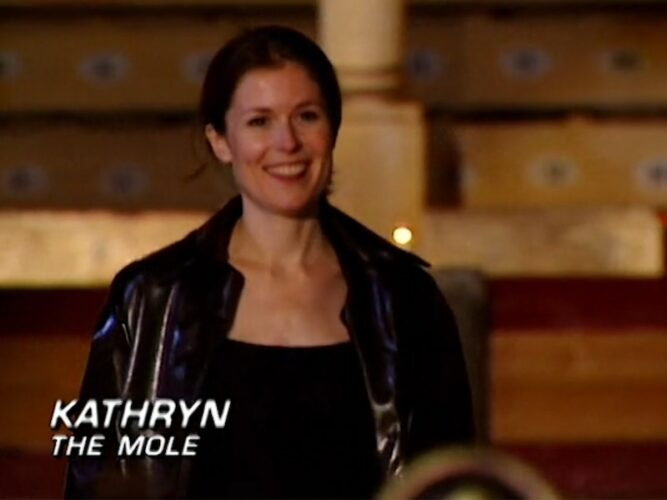 Kathryn Price is revealed as The Mole on season 1, episode 9