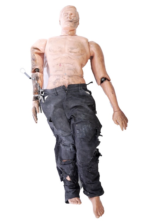 One of the Mythbusters' Buster dummies, which is for sale as part of an auction benefitting the Grant Imahara STEAM Foundation