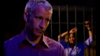 Anderson Cooper offers Heather an exemption while Myra (and, off-screen, Al) remain imprisoned after the second test on The Mole 2, episode 5.