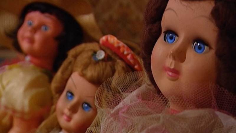"""Anderson Cooper's """"girls,"""" as he refers to the dolls in Anderson's Funhouse, an iconic Mole 2: The Next Betrayal test."""