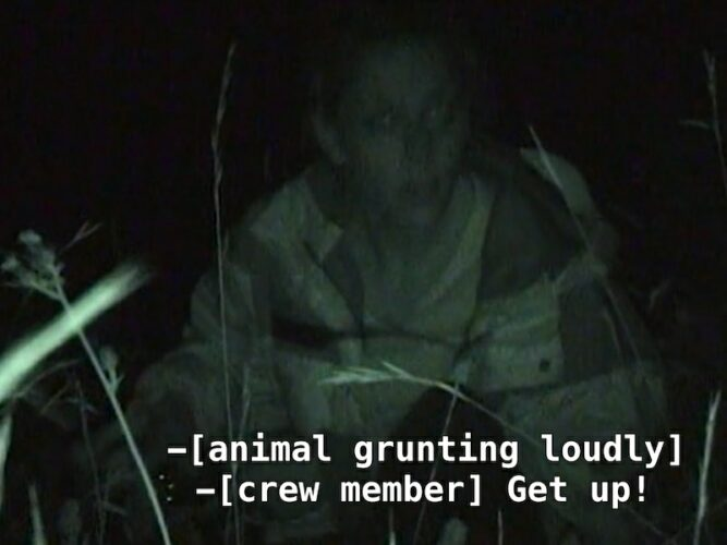 Heather and crew members from The Mole 2 encounter a mysterious wild animal during the final test.