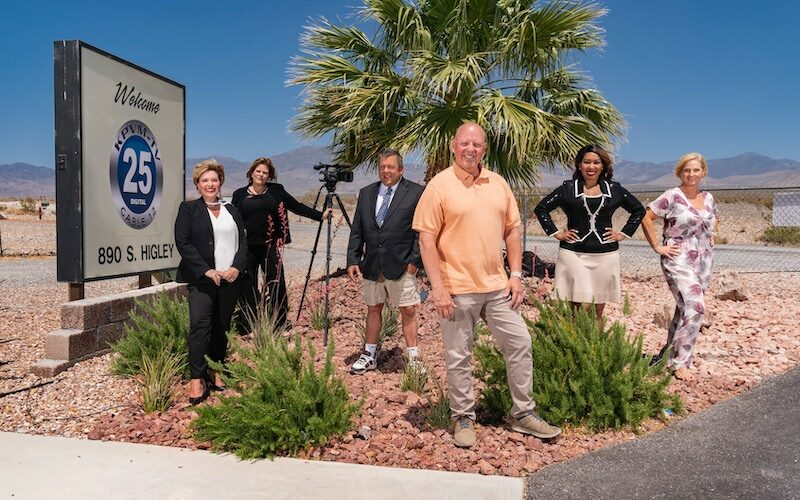 Small Town News: KPVM Pahrump's cast: Missey Kohler, Deanna O'Donnell, John Kohler, Vern Van Winkle, Eunette Gentry, and Ronda Van Winkle