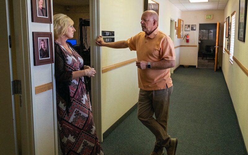 Small Town News owner Vern Van Winkle, right, and Ronda Van Winkle at KPVM News 25