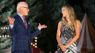 Tim Gunn and Heidi Klum on Making the Cut season 2. I don't know what happened to your show either, Tim!