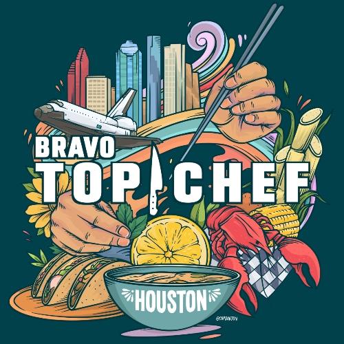 Bravo's Top Chef Houston, illustrated by Houston artist David Maldonado