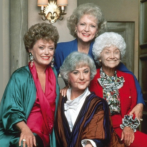 The Golden Girls, clockwise from left: Rue McLanahan, Betty White, Estelle Getty, and Bea Arthur
