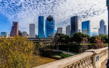 The skyline of Houston, which will be home to Top Chef Houston, season 19 of the Bravo competition