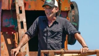 Jeff Probst surveys all that he created at the start of Survivor 41,