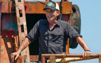 """Jeff Probst surveys all that he created at the start of Survivor 41, """"A New Era."""""""