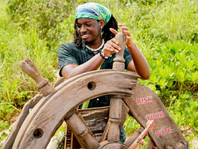 JD chooses Risk Your Vote, which was part of one of Survivor 41's many opening twists