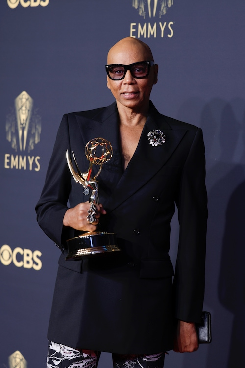 RuPaul at the 73rd Emmys, at which Drag Race won its fourth consecutive Emmy, bringing RuPaul's total to 11, a record for a Black person