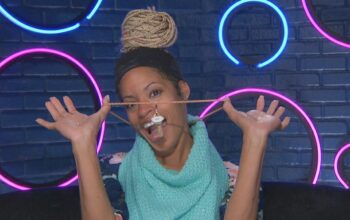 BB23's Tiffany, who created the Cookout alliance, with the Big Brother 23 HOH key