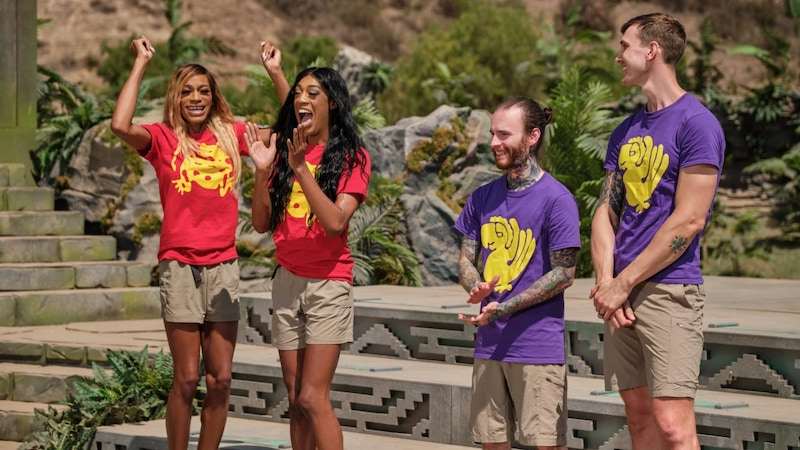 The Red Jaguars and Purple Parrots on the Steps of Knowledge, the second round in Legends of the Hidden Temple
