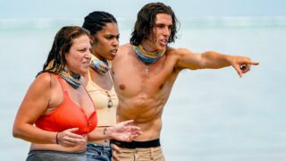 Look! Over there! Another Survivor 41 twist! Actually, this is Tiffany Seely, Liana Wallace, and Xander Hastings during the episode two immunity challenge